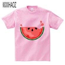 Girls Tops T-Shirt Kids T-Shirts For Boys Watermelon print t shirt Gravity Falls summer baby Short sleeve cartoon 19-2  NN