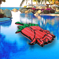 Inflatable Giant Rose Pool Float Island Swimming Pool Lake Beach Party Floating Boat Water Toys Air Mattresses 180CM
