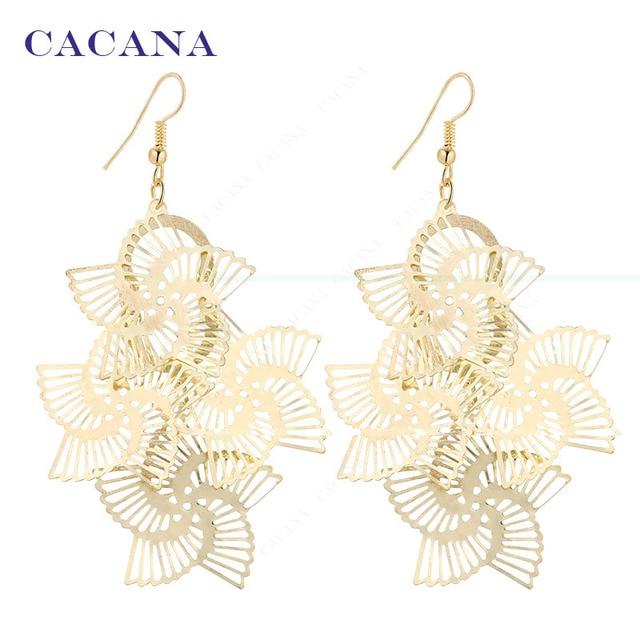 CACANA Dangle Long Earrings For Women Rotation Sector Bijouterie Hot Sale No.A25