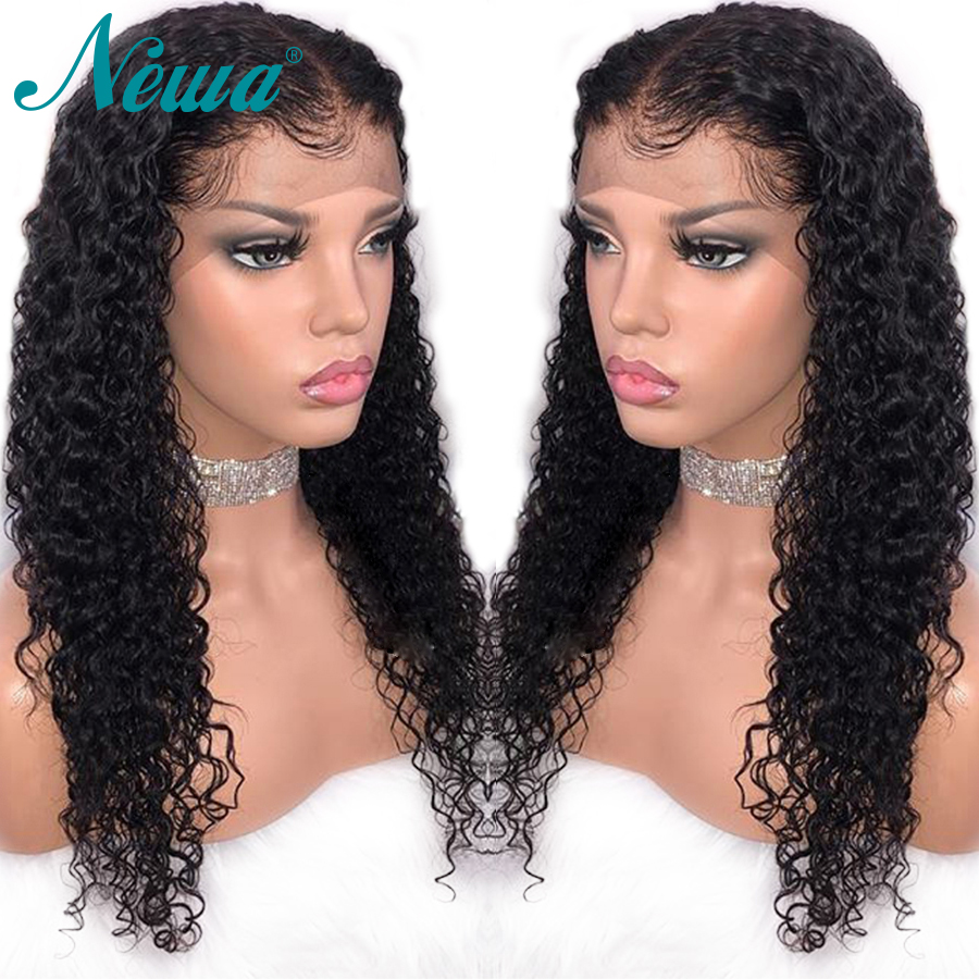 Newa Hair Lace Front Human Hair Wigs Pre Plucked With Baby Hair Curly Lace Front Wigs