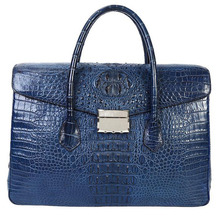 Men's crocodile skin briefcase Fashion luxury Handbags Genuine Leather Messenger bag Brand vintage Laptop Bags for 14 inch