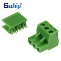 Free Shipping 10Set Pitch Connector Screw Terminal Block Pin Header And Socket 3Pin PCB Electrical Universal