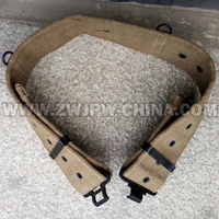 WWII WW2 UK Army Belt British Military Gear For Sale Canvas Khaki Color Flexible Outdoor Safe