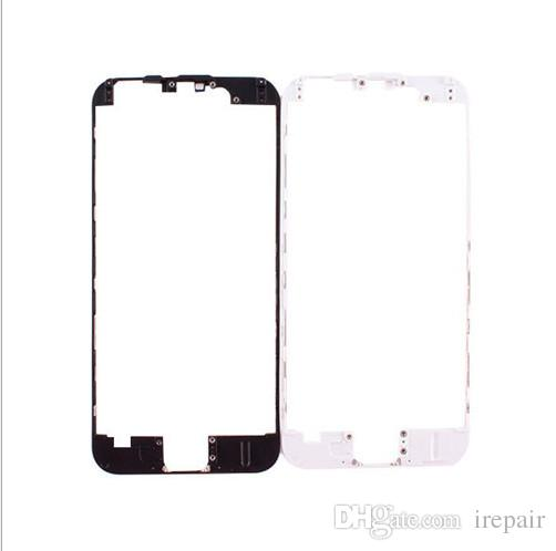 5pcs/lot LCD Digitizer Screen Front Frame middle Bezel with Hot Glue Case Repair Parts for iPhone 6g 6p 6s 6sp black white