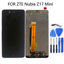 ZTE Nubia Z17 미니 NX569J NX569H LCD 디스플레이 터치 스크린 어셈블리 액세서리 ZTE Nubia Z17 미니 전화 부품 수리 키트