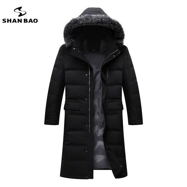 2016 winter new men's fashion long paragraph hooded down jacket luxury brand high-quality fox fur collar parkas XL 2XL 3XL 4XL
