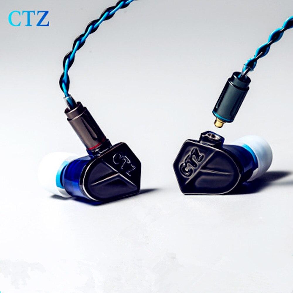 Original CTZ Kodo Hybrid In-Ear Earphones Dynamic+Balanced Armature 2 Driver Units Metal HIFI DIY Headsets With MMCX earpieces original xiaomi mi iv in ear 3 5mm hybrid dynamic and two balanced armature drivers earphones with microphone