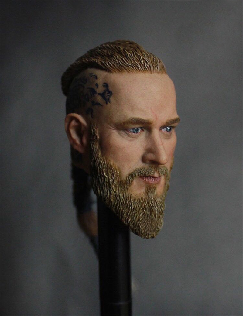 1/6 Mens Head Sculpt Travis Fimmel For 12 Inches Male Muscular Bodies 1 4 scale 18 inches male movable bodies collectable figures for 1 4 mens head sculpt