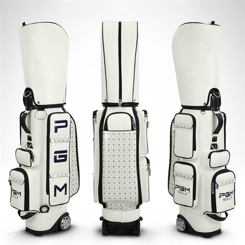 Pgm Women Golf Standard Bag Pu Waterproof Golf Bags Large Capacity Travel Golf Bags Professional Golf