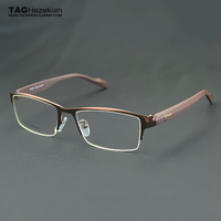 eyeglasses frames men Brand Retro TR90 Business glasses frame TAG Myopic computer optics oculos de grau clear lens glasses T9019