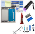 For Samsung Galaxy Note 2 Glass Screen Replacement Repair Kit TITANIUM GREY UV TORCH