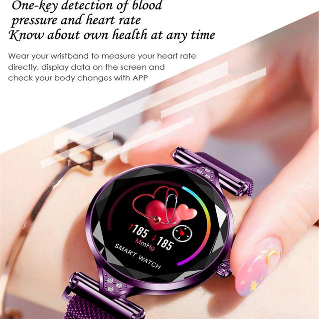 H1 Women Smart Watch reloj inteligente Heart Rate Monitor Fitness Tracker Lady Smartwatch Wristband Bluetooth Waterproof