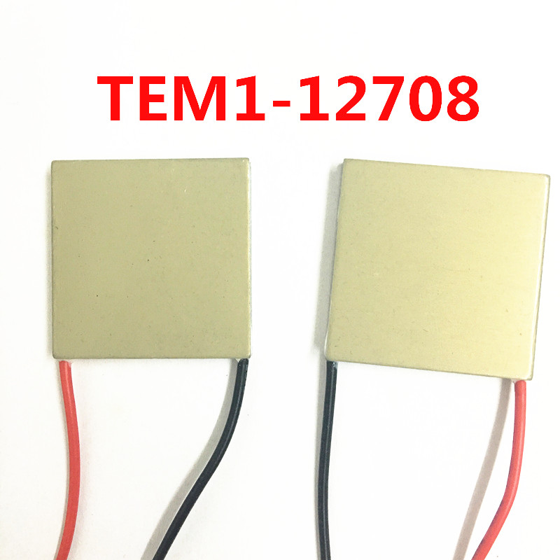 Aluminum Substrate Semiconductor Cooling Plate TEM1-12708 40x40MM High Efficiency Refrigerator Freezer Cooling