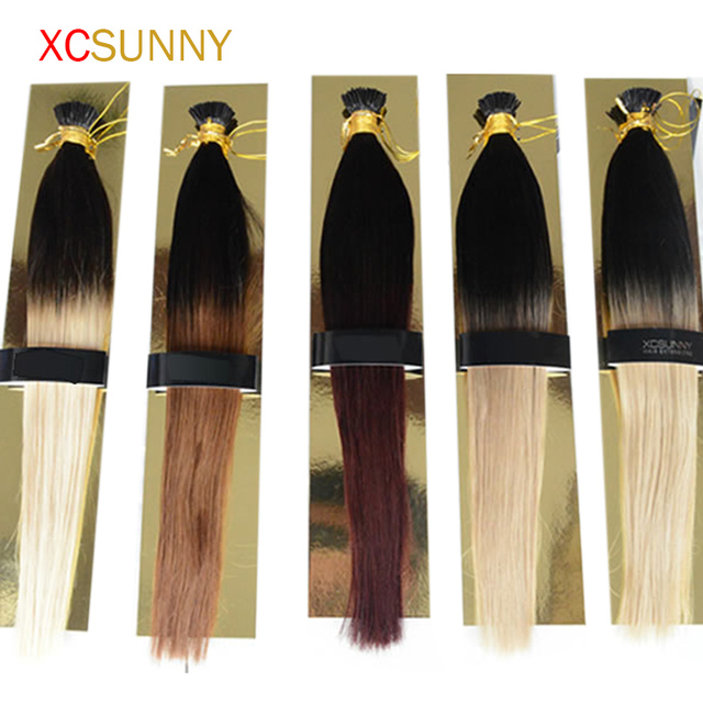 Xcsunny 1820 Malaysian I Tip Hair Extensions Ombre Hair 100g
