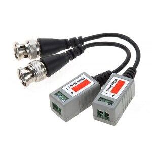 Image 3 - 20 pces ahd/cvi/tvi trançado bnc cctv vídeo balun transceptores passivos 10 pares cat5 cctv utp vídeo balun até 3000ft gama