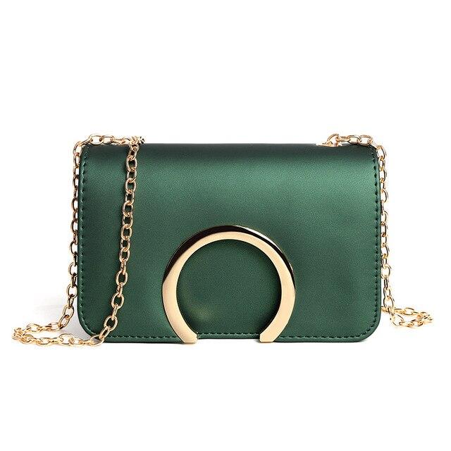 6d4b030c20 Women s Bag 2018 Spring New Fashion Women Shoulder Bag Cowhide Leather Chain  Strap Flap Designer Handbags Clutch Bag Messenger