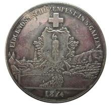 Дата 1847 1863 1865 1867 1869 1872 1874 1876 1939 Швейцария 5 Франкен съемки фестиваль копия монет