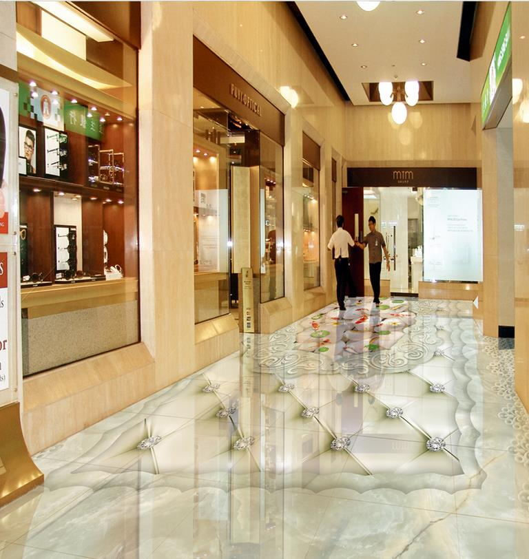 ФОТО waterproof wall murals 3D European Style Carp Marble Flooring pvc self-adhesive wallpaper Home Decoration