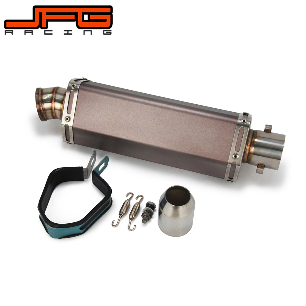 Motorcycle Stainless steel universial 38mm-51mm Exhaust muffler pipe with Moveable For Scooter ATV