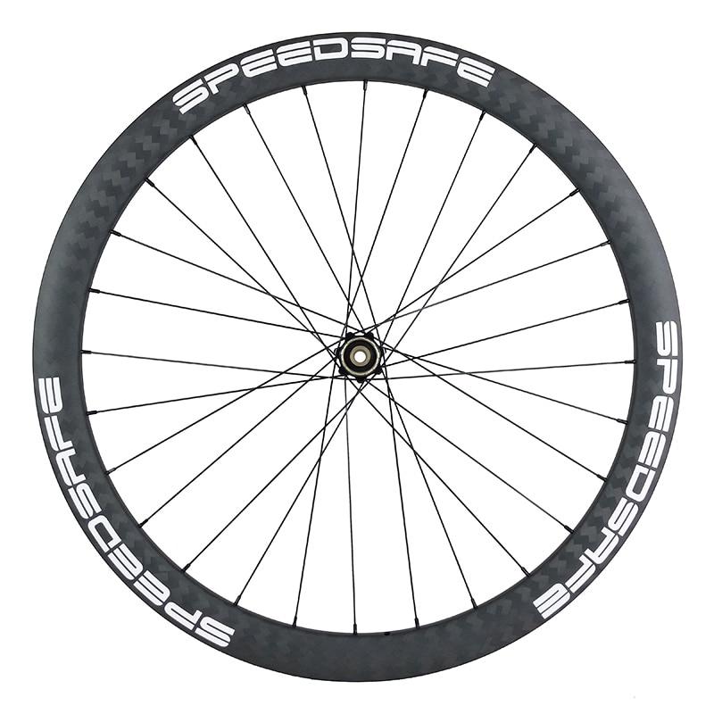 750g 700C 42mm asymmetric road disc center lock or 6 bolt carbon rear wheel Novatec D412SB