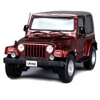 Maisto 1:18 jeep wrangler sahara white black redwine car diecast suv car toy model for men collecting car model for fans 31662