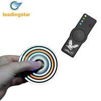LeadingStar Fidget Spinner Toys USB Charging LED Lighting Cigarette Lighter Gyro Hand Spinner Stress Anxiety Reducer