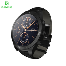 FLOVEME Smart Watch Android iOS MTK6571 WIFI Wristwatch Leather Strap Pedometer Bluetooth 4.0 Heart Rate Monitor Smartwatch