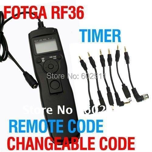Fotga temporizador cambiable cable remoto para Canon 400D 450D 500D 550D 1000D 1100D como TC-80N3