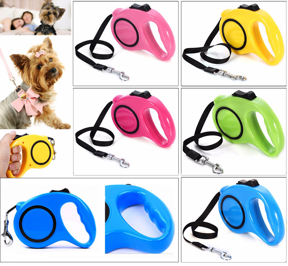 3M/5M Retractable Automatic Dog harness Extending Pet Dog Leash Puppy Walking Lead For Small Medium Dogs