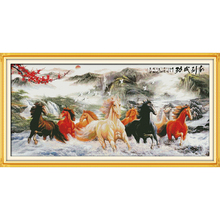 Everlasting Love Wishing You Every success(8)  Chinese Cross Stitch Kits Ecological Cotton Stamped DIY Gift New Year Decorations