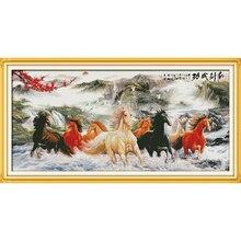 Everlasting Love wishful You everything success(8) Kits de punto de cruz chinos algodón ecológico estampado DIY regalo decoraciones de Año Nuevo