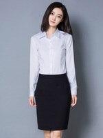 QIHUANG женские белые блузки с длинным рукавом и отложным воротником, женские офисные рубашки, модные облегающие Женские блузки S-3XL