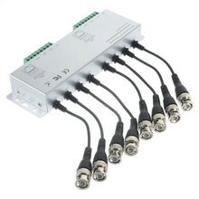 8CH HD CVI/TVI/AHD Passive Transceiver 8Channels Video Balun Adapter Transmitter BNC to UTP Cat5/5e/6 Cable 720P 1080P