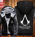 2017 Winter Assasins Creed Hooded men fashion fleece Sweatshirt Black Chadal Hombre thicken coat tracksuits casual jacket down