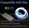 LED Controller & RGB LED Strip Light 5m Compatible with Hue 1.0 and 2.0 bridge wireless Control Directly ZigBee Smart Lighting