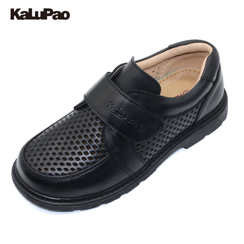 Children Leather Shoes Boys School Shoe 2018 New Genuine Leather Non-Slip Loafers Kids Flats Baby Toddler Casual Comfy Footwear