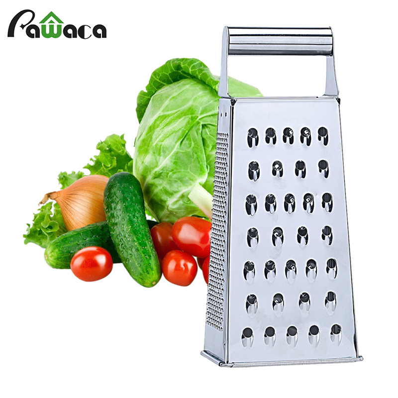 Fruit Vegetable Grater Stainless Steel 4 Sides Carrots Potatoes Grater Onion Slicer Fruit Vegetable Tools Kitchen Accessories