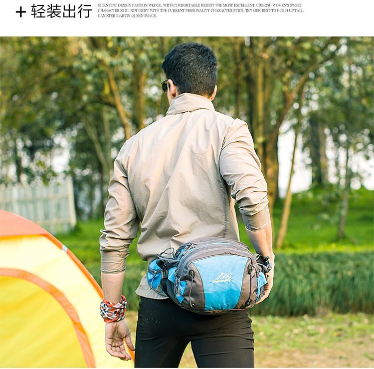 Men Women Sport Waist Bag Pack Backpack With Bottle Holder Outdoor Exploration Travel Casual Cycling Gym Storage Bag Packs (6)