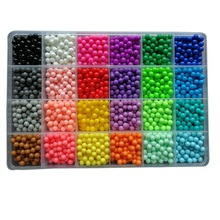 100pcs/bag 24 Colors Aqua Beads Puzzle Choice Aquabeads Perlen Magic Water Beads Puzzles Toys Educational Kids Toys Puzzle Games