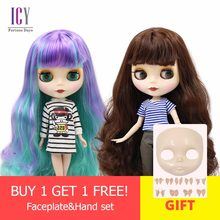 ICY Nude blyth doll normal body and joint body Faceplate&Hand set as gift on sale 1/6 BJD neo azone,pullip(China)