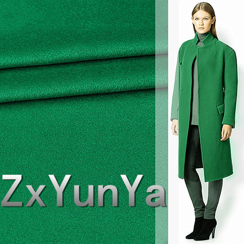 The new 148cm wide cashmere wool fabric high end green high quality wool cashmere fabric autumn and winter wool coat fabric