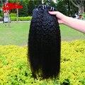 Não transformados birmanês Grosseiro yaki em linha reta cabelo weave 3 pcs lot, preto natural 100% virgin birmanês bizarro tecer cabelo liso