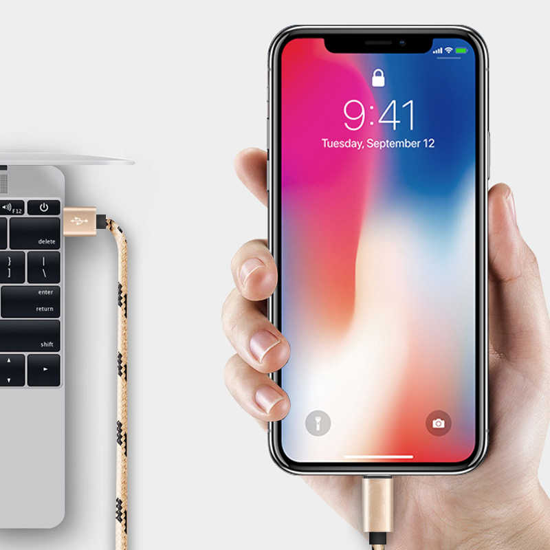 1 2 3 m USB נתונים כבל מקור מטען עבור iphone כבל Xs max Xr X 8 7 6 בתוספת 6s 5 s בתוספת ipad mini מהיר טעינה נייד טלפון