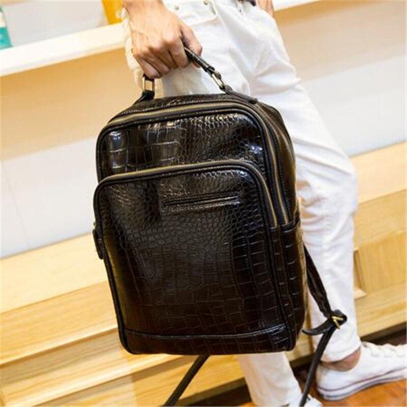 2016 new Designer Men Backpacks Pu Leather Rucksack School Bag For Teenagers  Women Backpack Travel Bolsas Mochila Feminina