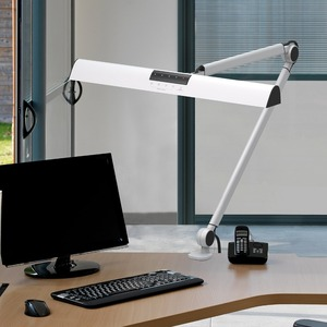 Image 5 - A509 Desk Lamp LED Light Swing Arm Architect Clamp Touch Table Lamp for Reading Working Silver 2 Lighting Modes,4 level Dimmable