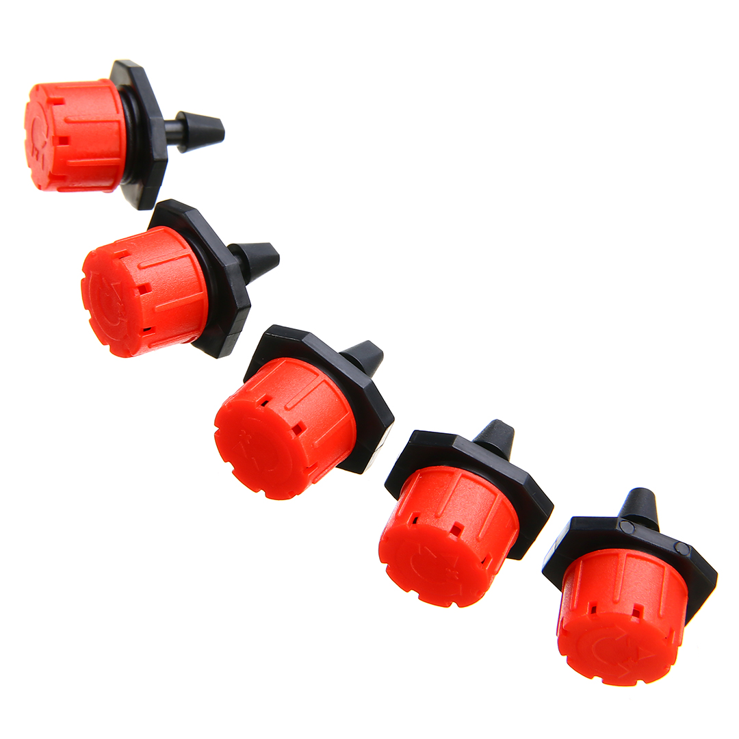 Mayitr 100pcs 1/4 inch Adjustable Micro Drip Irrigation Watering Sprinklers Emitter Drippers For Garden Supplies