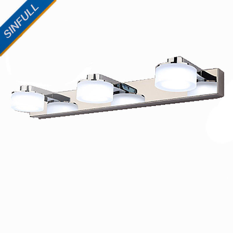 Modern Brief Bathroom Mirror Light Cosmetic Washroom Led Wall Lamp Indoor Home Led Sconce Lighting Luminaire 6w 9w AC90-260V Hot luxury modern white acrylic 12w led bathroom wall lamp mirror front fashion wall light showroom washroom wall lamp