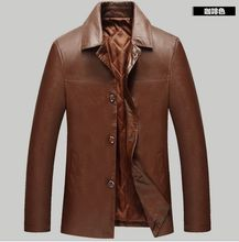 2016 new model leather-based brief paragraph lapel imported leather-based leather-based jacket luxurious leather-based males's jacket