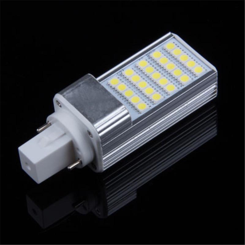 200pcs G24 5W LED Bulb Light Horizontal Plug Lamp AC85 265V 109mm Length Warm White 3000K