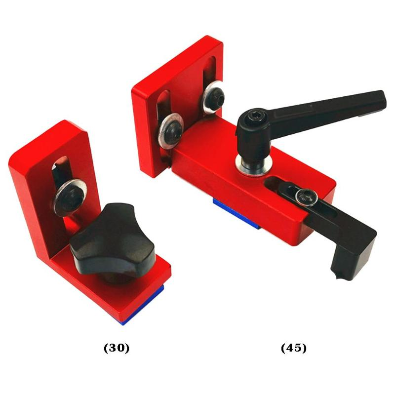 1PCS T-track Slot Connector 30/45 Sliding Brackets (Red Serie) Chute Woodworking Machinery Part Module T Track T-stop Aluminium